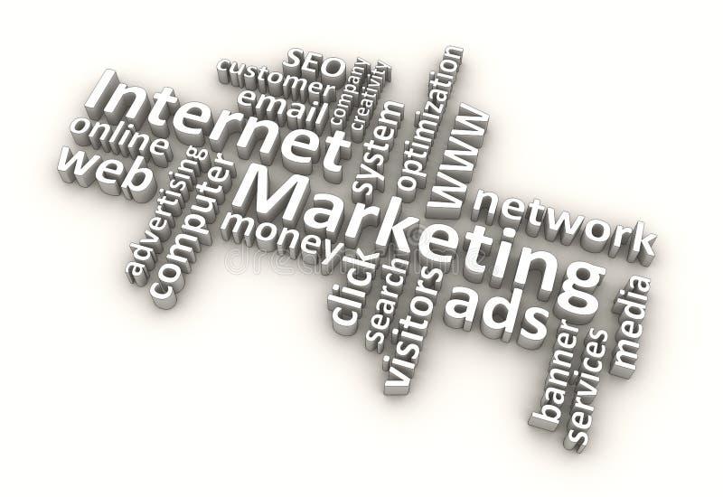 Parole di vendita del Internet (bianche) fotografia stock