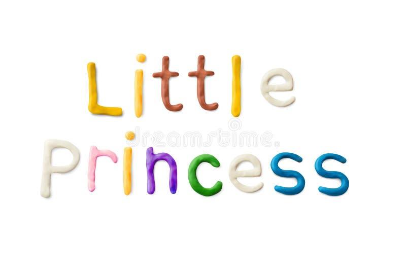 Parole fatte a mano dell'argilla da modellare Piccola principessa royalty illustrazione gratis