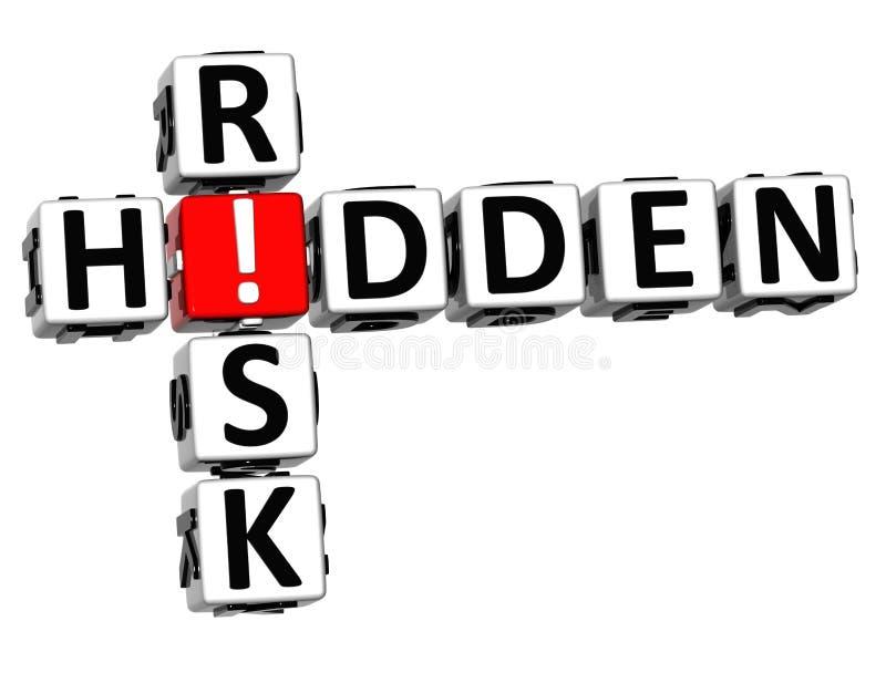 parole incrociate di rischio nascoste 3D illustrazione vettoriale