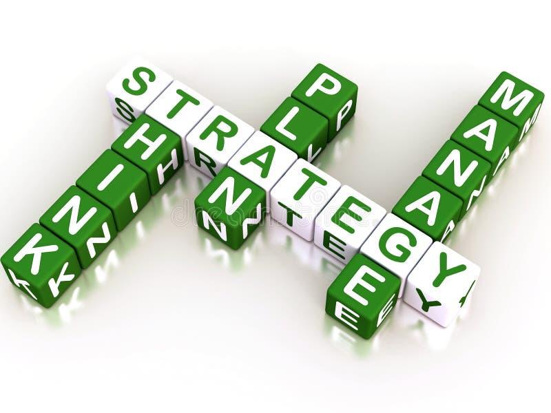 Parole incrociate di strategia illustrazione di stock
