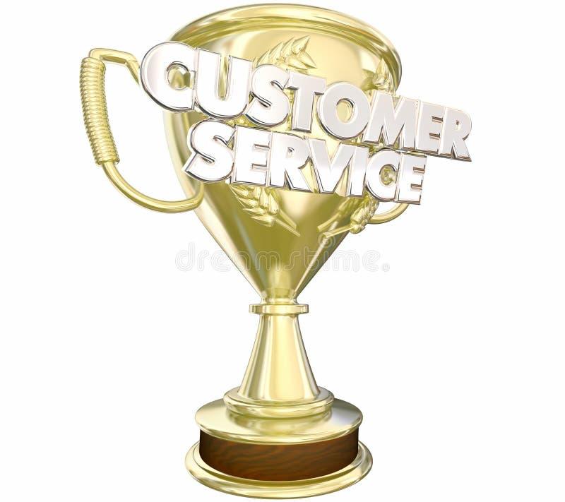Parole premiate del personale del premio di servizio di assistenza al cliente migliori illustrazione di stock