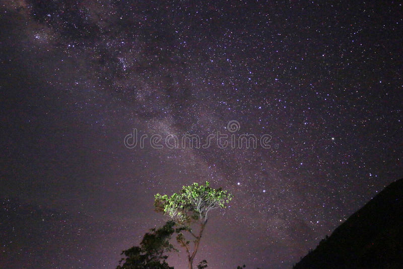 Paropo Milky Way stock photography