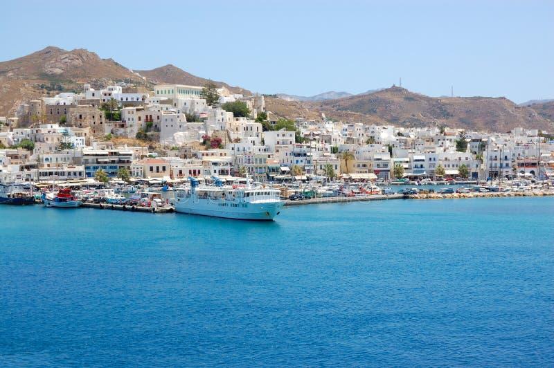 Paros Island Harbour View Royalty Free Stock Photo