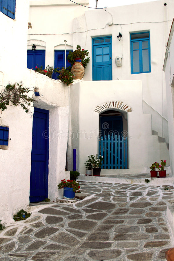 Paros - Oud Grieks dorp stock foto's