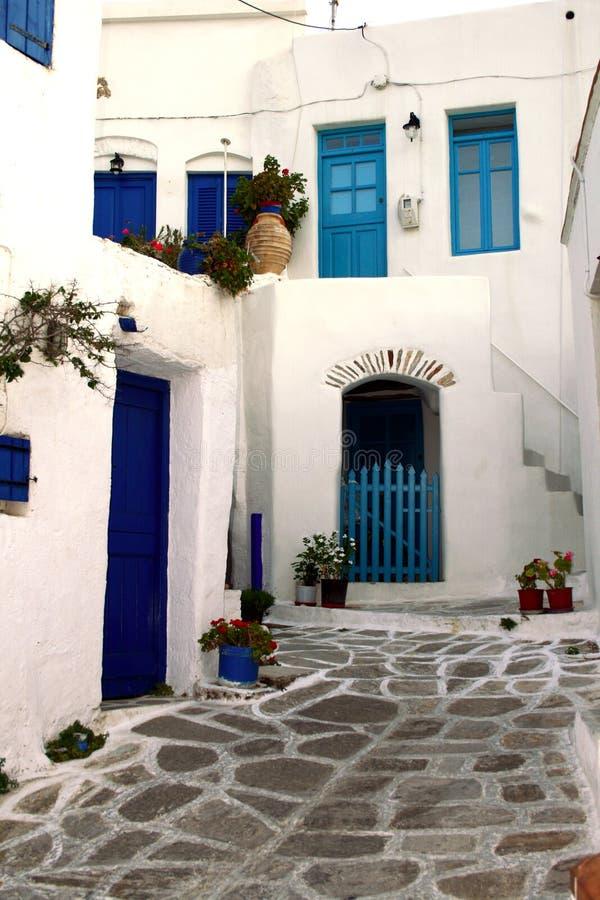 Paros - vecchio villaggio greco fotografie stock