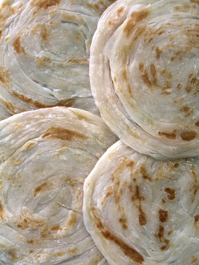 Parotta. S (indian bread) on a plate royalty free stock photo