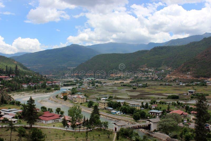 Parovallei in Bhutan royalty-vrije stock afbeelding