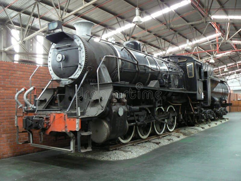 PAROWA lokomotywa, OUTENIQUA transportu muzeum, GEORGE, POŁUDNIOWA AFRYKA zdjęcie stock