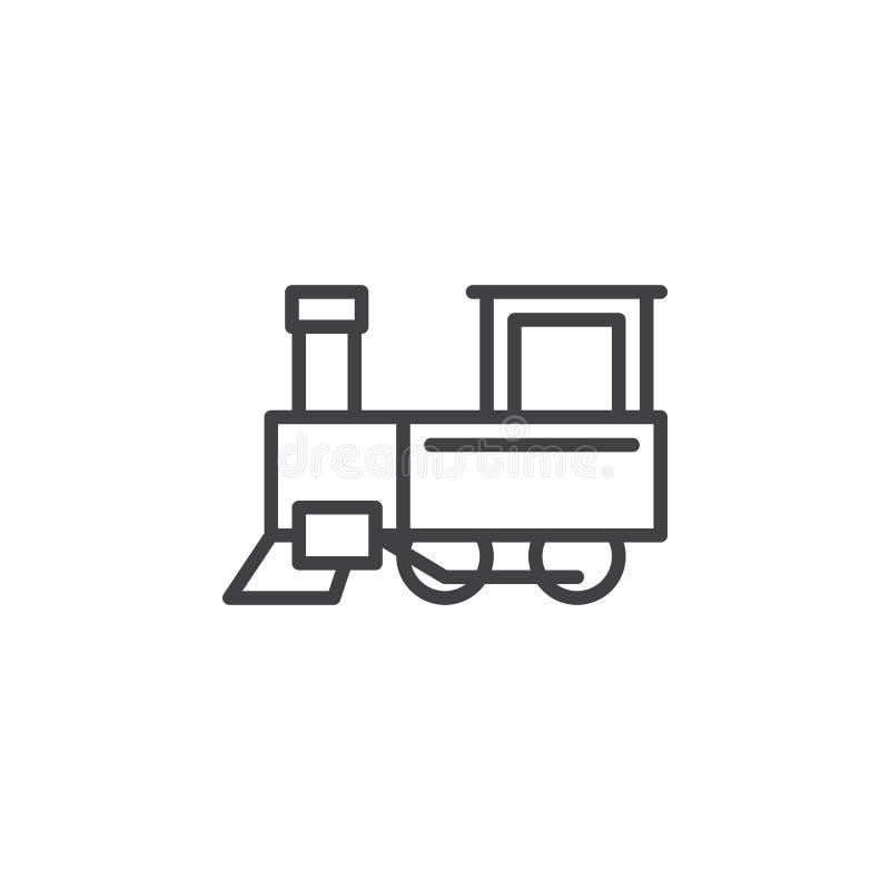 Parowa pociąg linii ikona ilustracji