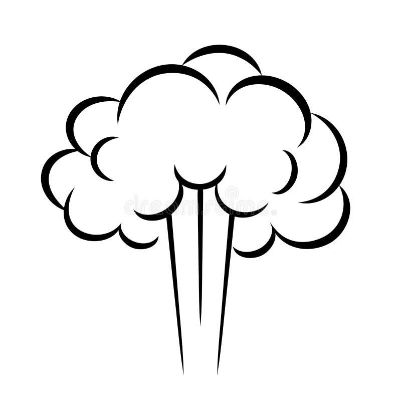 Parowa ptysiowa wektorowa ikona ilustracja wektor
