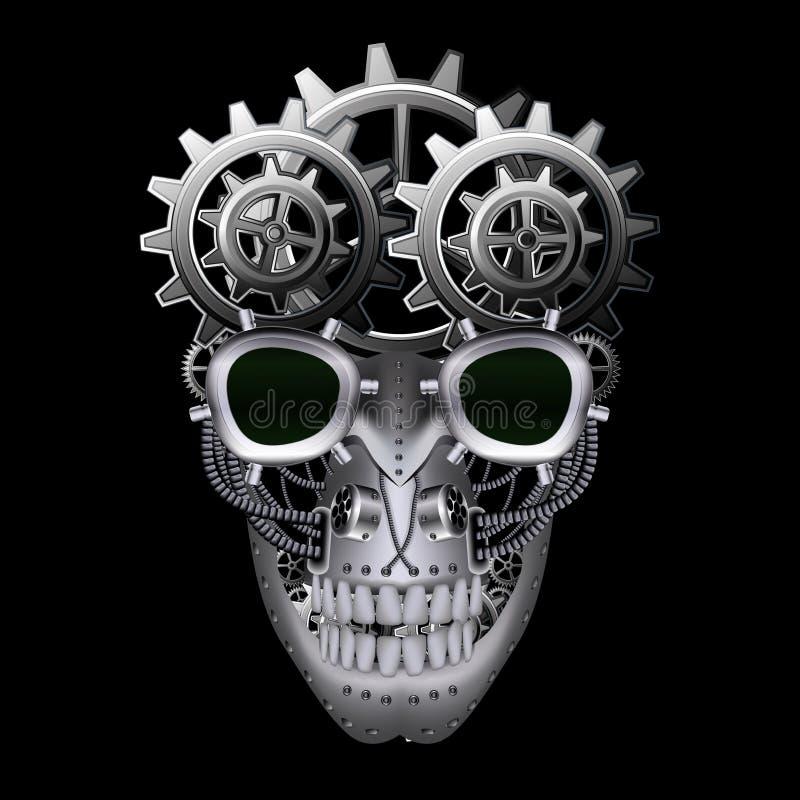 Parowa punkowa czaszka ilustracja wektor