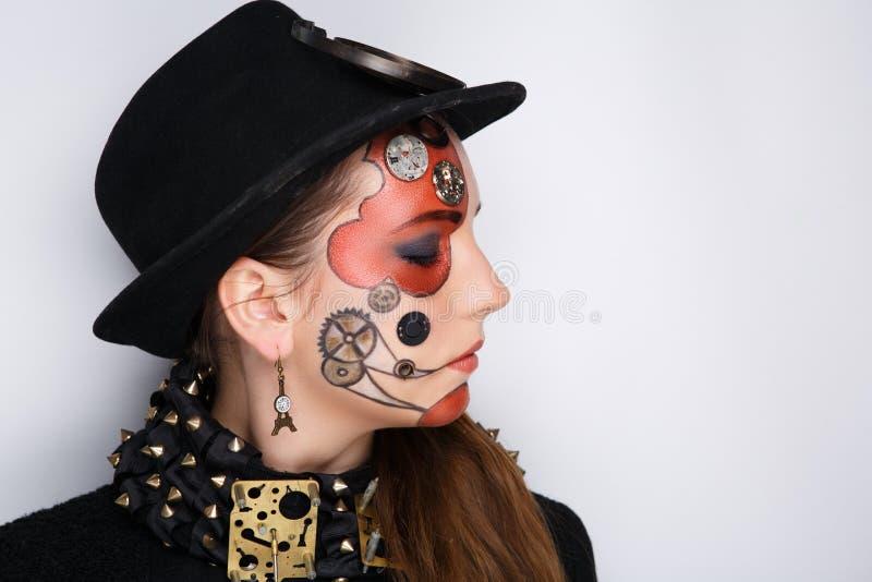 Parowa punkowa kobieta obrazy stock