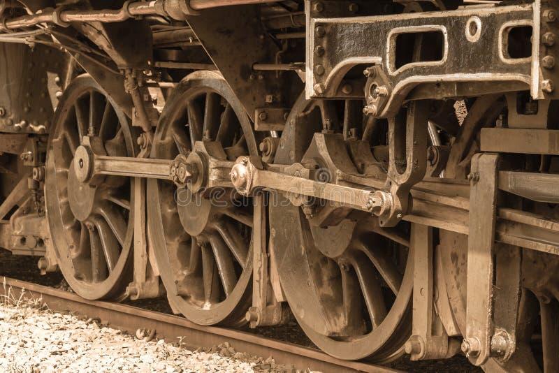 Parowa Taborowa lokomotywa Toczy zbliżenie rocznika zdjęcie royalty free