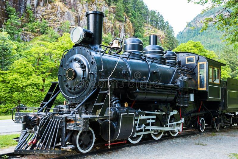 Parowego silnika pociągu lokomotywa zdjęcie royalty free