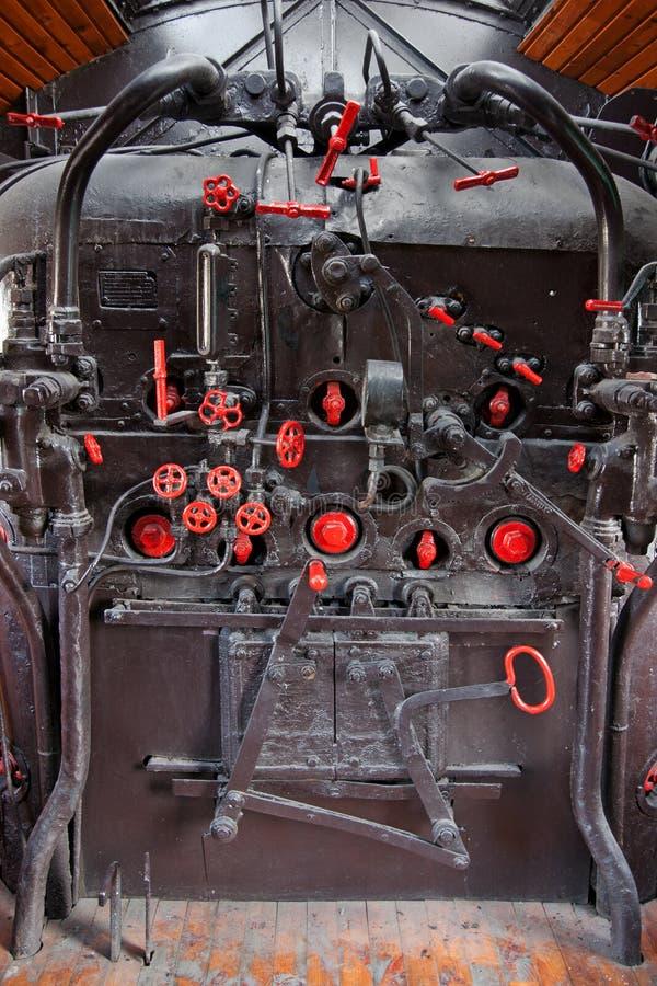 Parowego silnika pulpit operatora zdjęcie royalty free