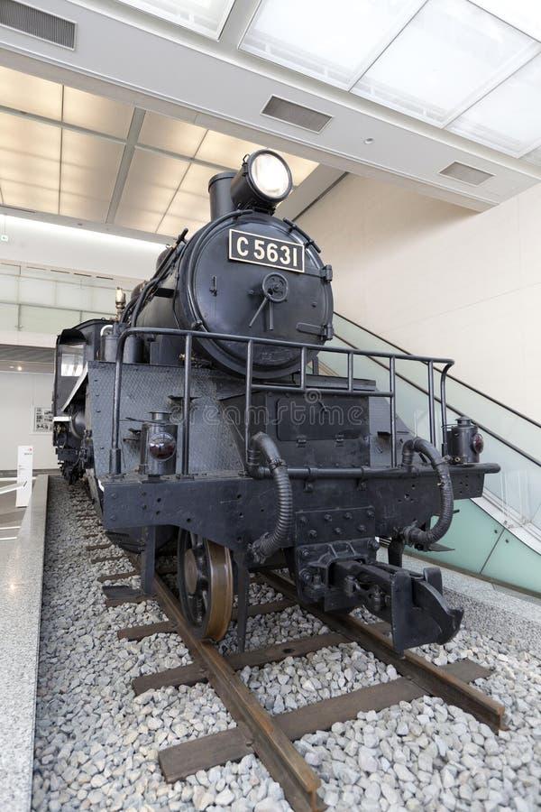 Parowej lokomotywy C5631 pokaz przy Yushukan muzeum nie zdjęcia royalty free