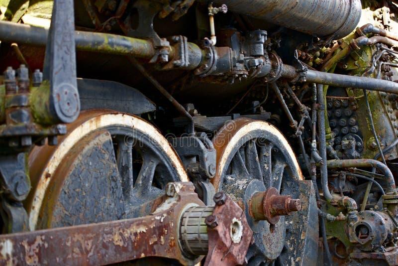 Parowej lokomotywy koła obrazy royalty free
