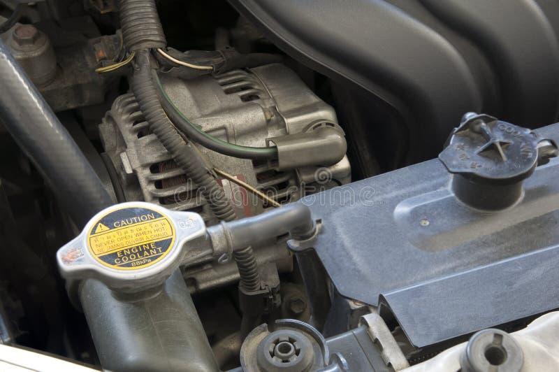 Parowozowy samochodowy coolant silnika mechanika pojęcie zdjęcia stock
