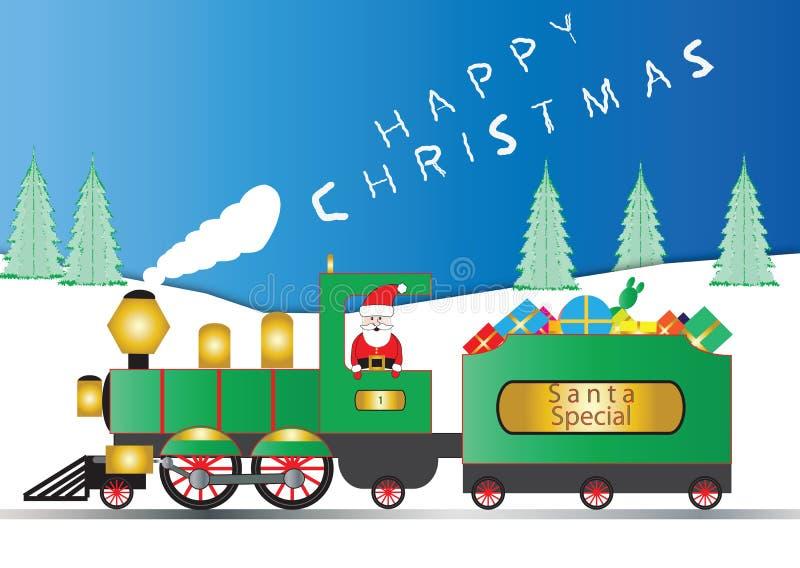 parowozowy Santa ilustracji