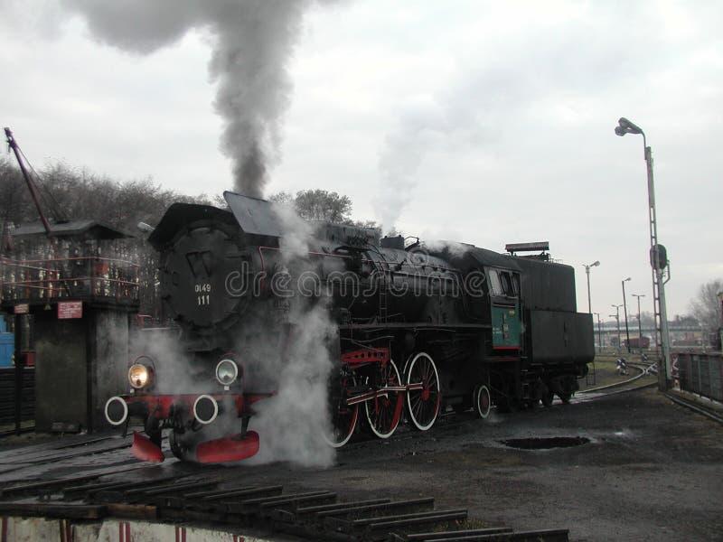 Parowy kolej pociąg obraz stock