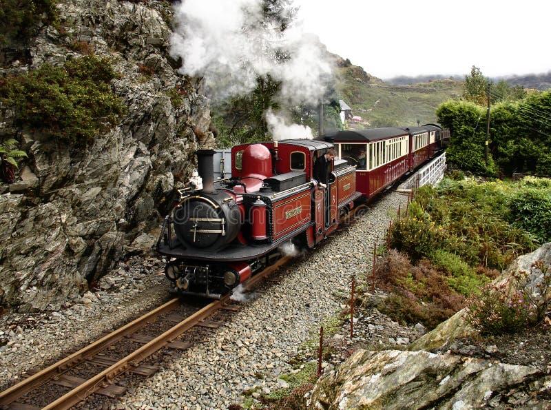 Parowy pociąg. zdjęcie royalty free