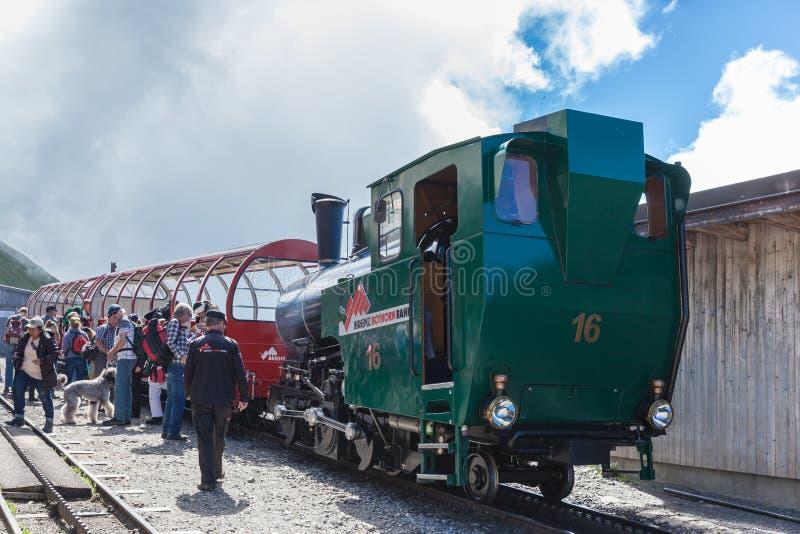 Parowy pociąg Brienzer Rothorn obrazy stock