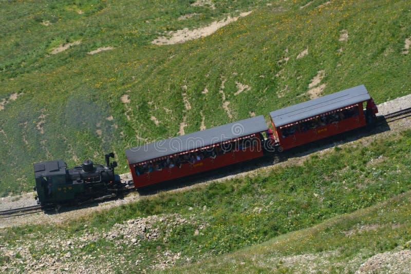Parowy pociąg, Brienzer Rothorn kolej/(BRB) fotografia stock