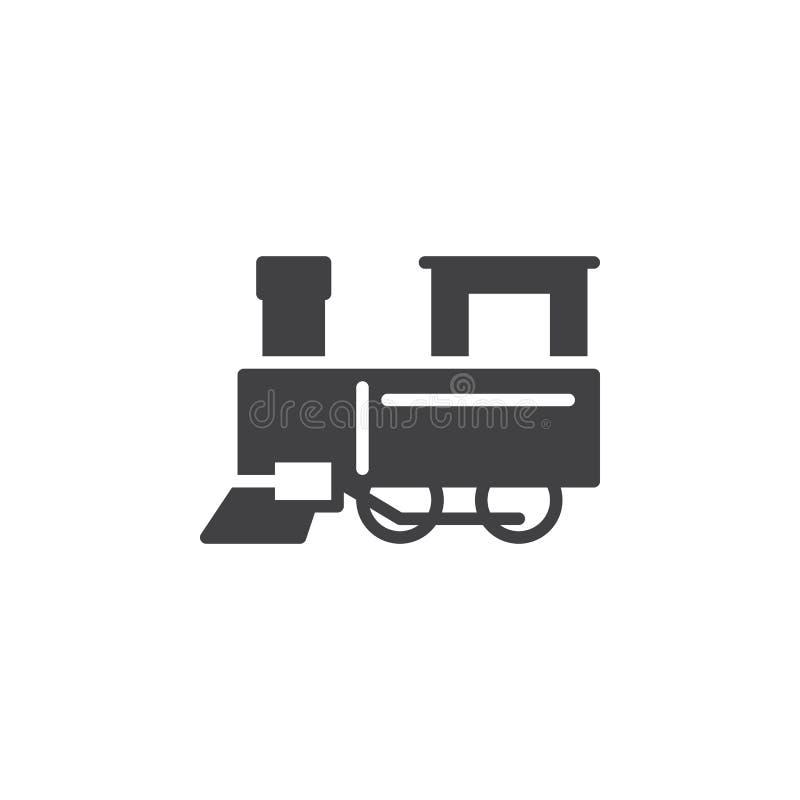 Parowy taborowy ikona wektor royalty ilustracja