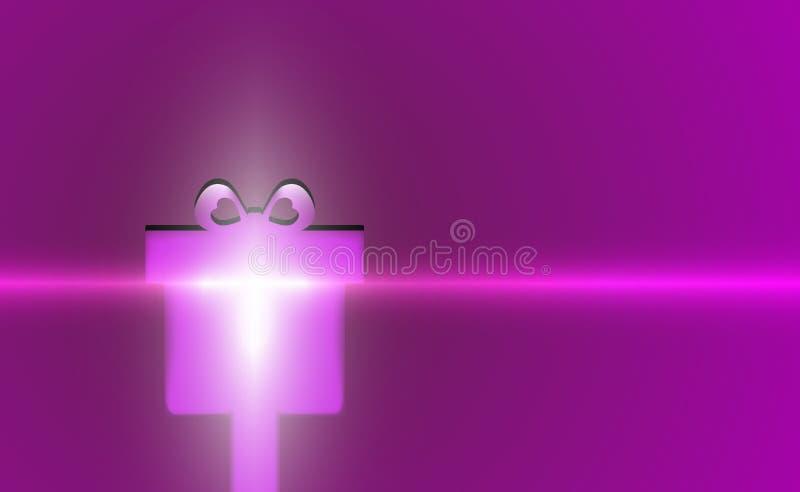 Parpadeo púrpura del fondo moderno violeta de la Feliz Navidad del regalo Años Nuevos de lila del contexto Caja de Navidad del ej stock de ilustración
