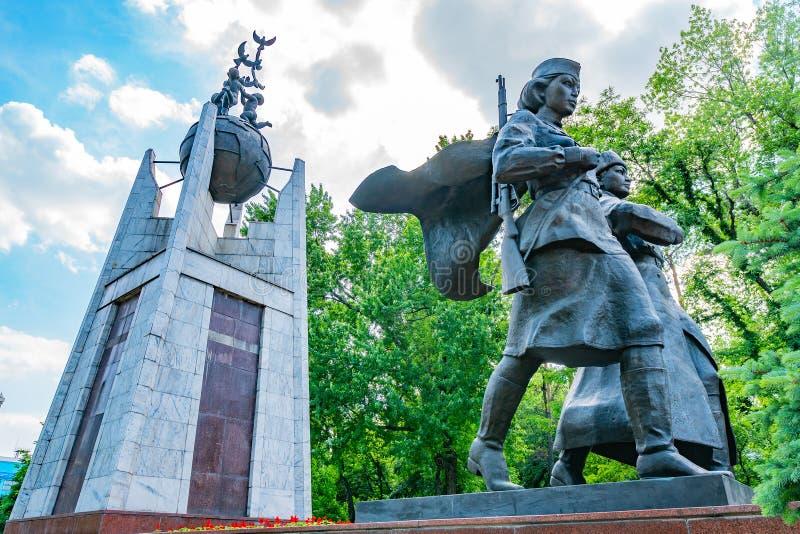 Parque Almaty en la plaza Astana 139 fotografía de archivo