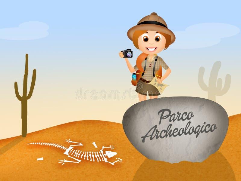 Parque arqueológico ilustración del vector