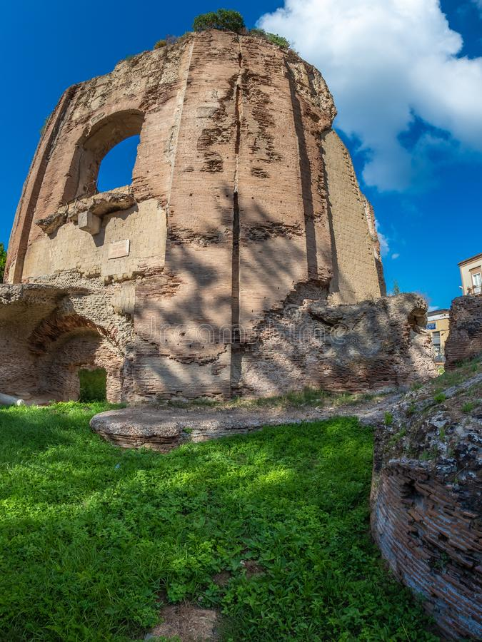 Parque arqueológico de Baia, templo de Venus foto de archivo