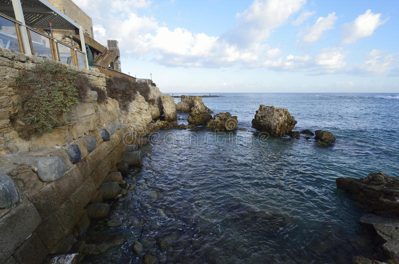 Parque arqueológico de Caesarea fotografia de stock