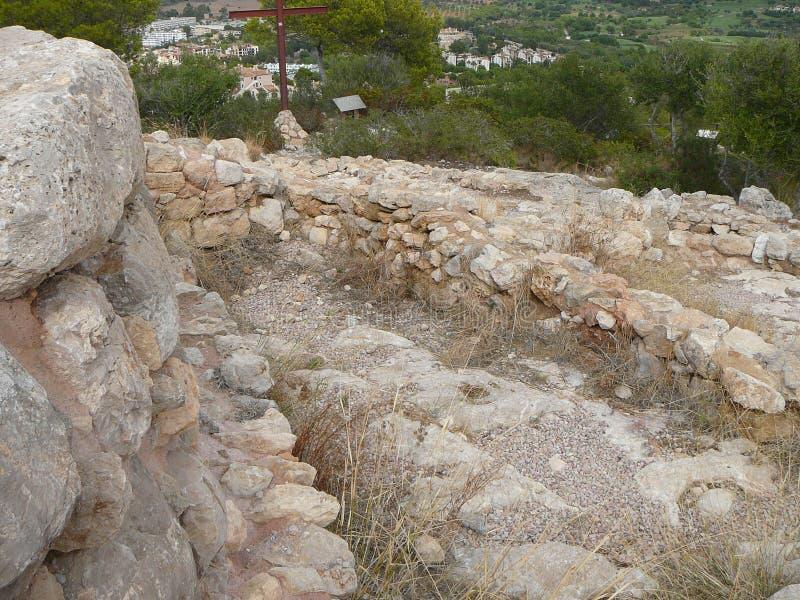 Parque arqueológico máximo mouro de sa Morisca de Puig em Majorca fotografia de stock