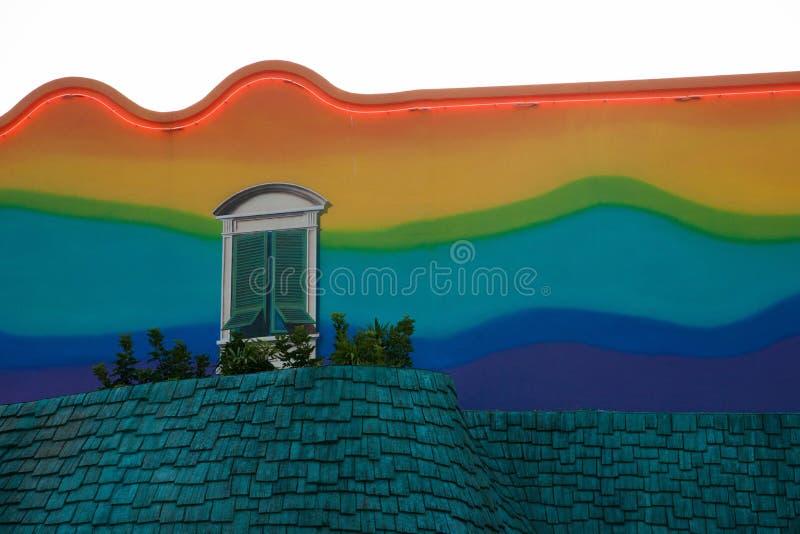 Parque Art Wall del océano imagenes de archivo