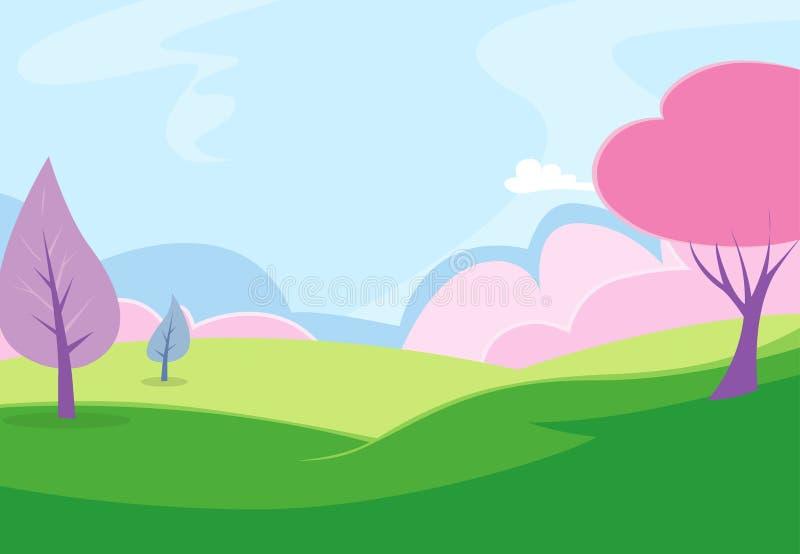 Parque Background1 ilustración del vector