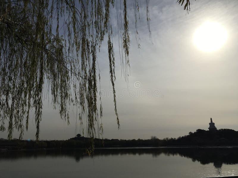 Parque Beihai, Beijing, China, escenario imágenes de archivo libres de regalías