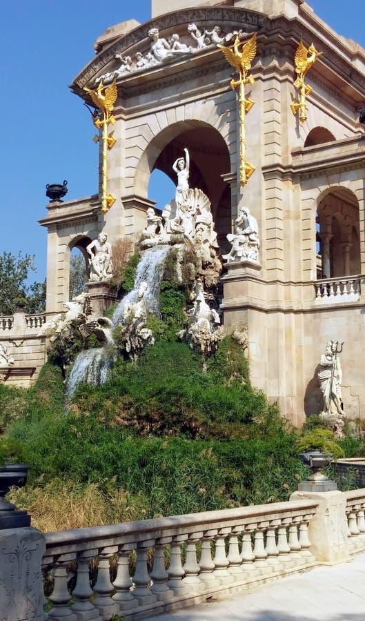 Parque bonito do ciutadella na cidade de Barcelona fotos de stock