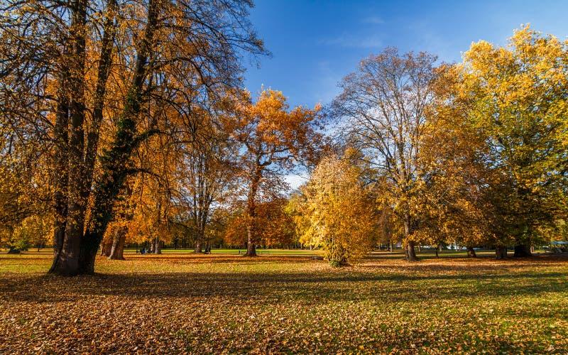 Parque Budatin do castelo do outono próximo por Zilina, Eslováquia fotos de stock