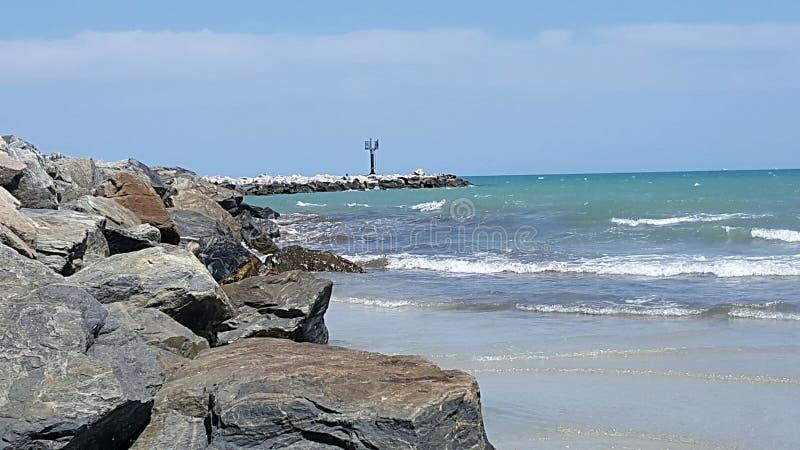 Parque Cabo Canaveral Florida do molhe fotografia de stock royalty free