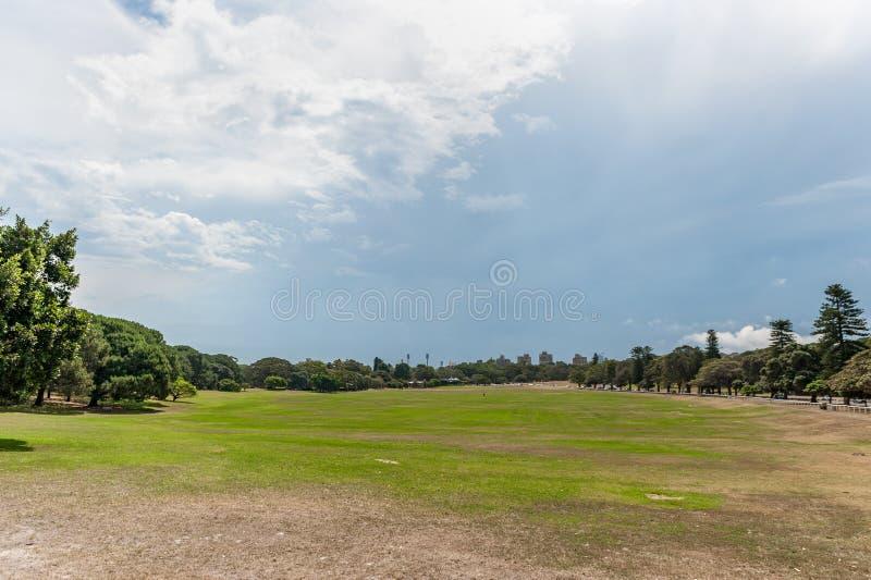 Parque centenário em Sydney, Austrália Grande ângulo fotos de stock royalty free