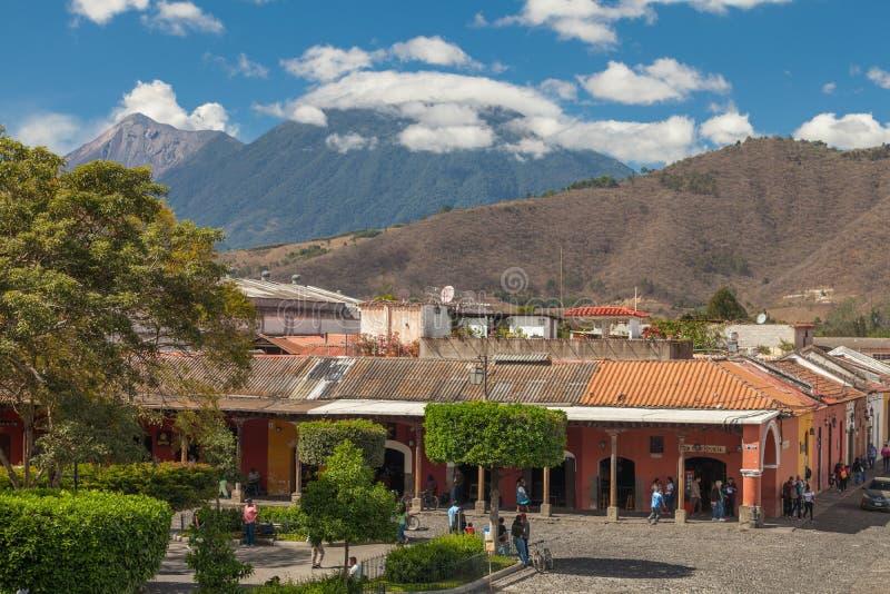 Parque Central, Antigua Guatemala royalty free stock image