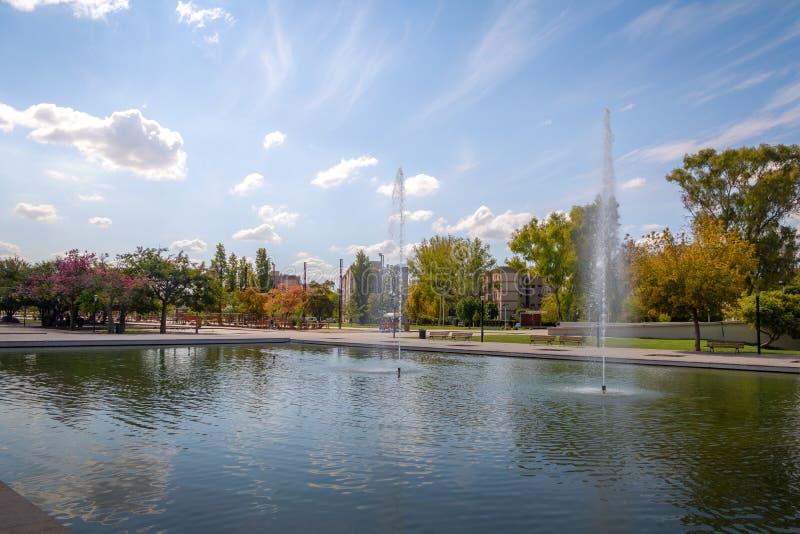 Parque Central Park Lake - Mendoza, Argentina stock photos