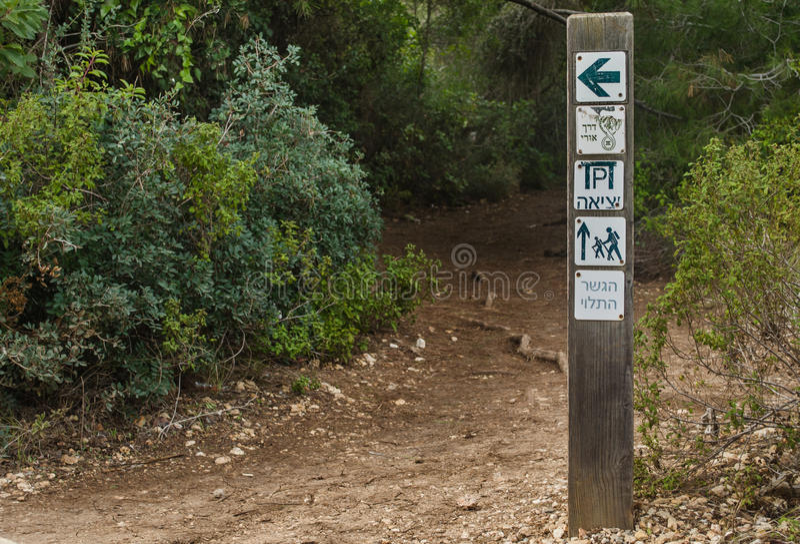 Parque com ponte articulada. Israel foto de stock royalty free