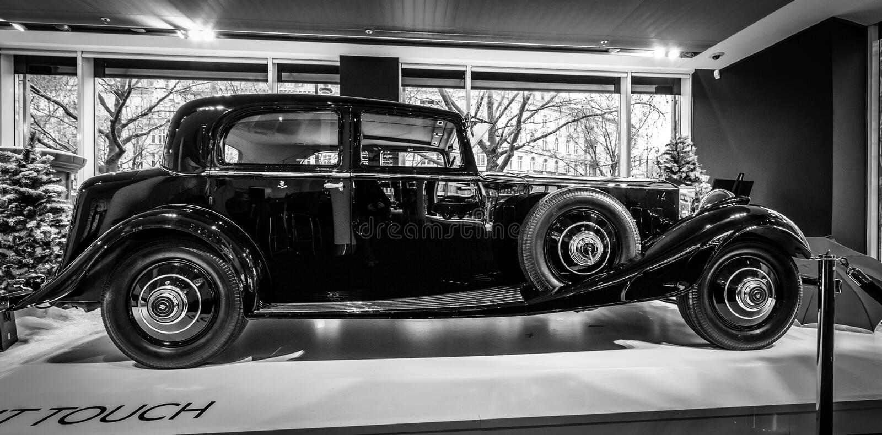 Parque continental Ward Touring Saloon, 1933 de Rolls-Royce Phantom II de lujo del coche imagen de archivo libre de regalías