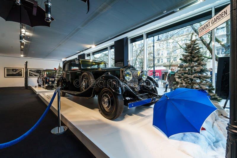 Parque continental Ward Touring Saloon, 1933 de Rolls-Royce Phantom II de lujo del coche fotografía de archivo libre de regalías