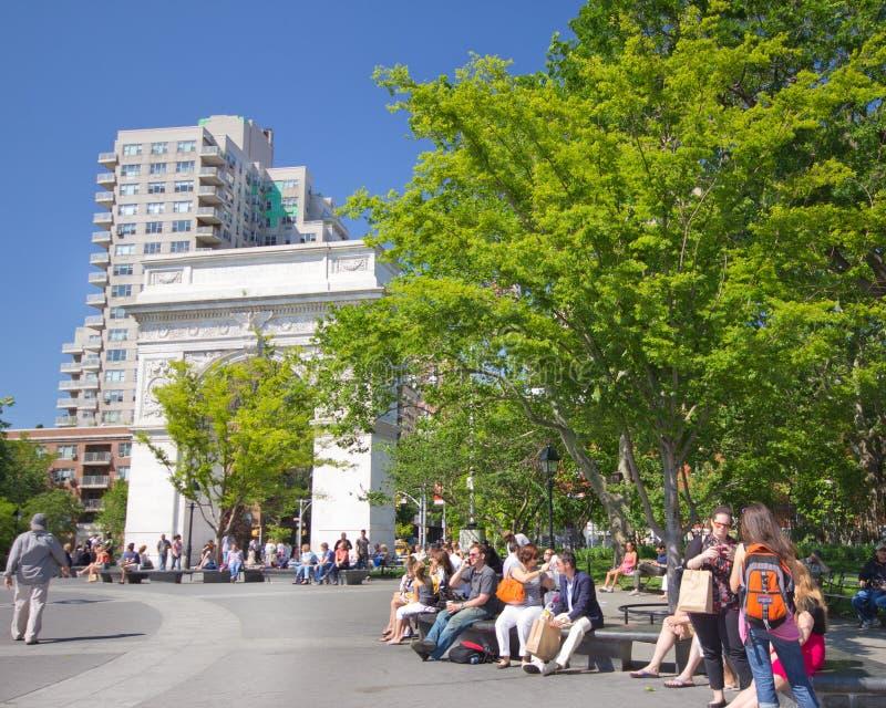 Parque cuadrado de Washington de NYC imágenes de archivo libres de regalías