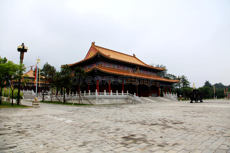 Parque cultural del Taoist de Louguantai en la ciudad de Xian fotografía de archivo libre de regalías