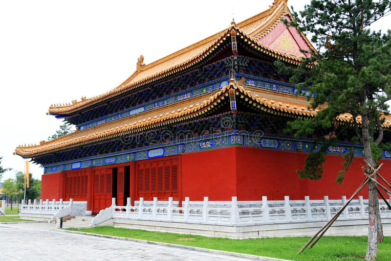 Parque cultural del Taoist de Louguantai en la ciudad de Xian imagenes de archivo