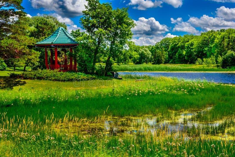 Parque da característica do pagode em público N?mero tr?s fotografia de stock royalty free